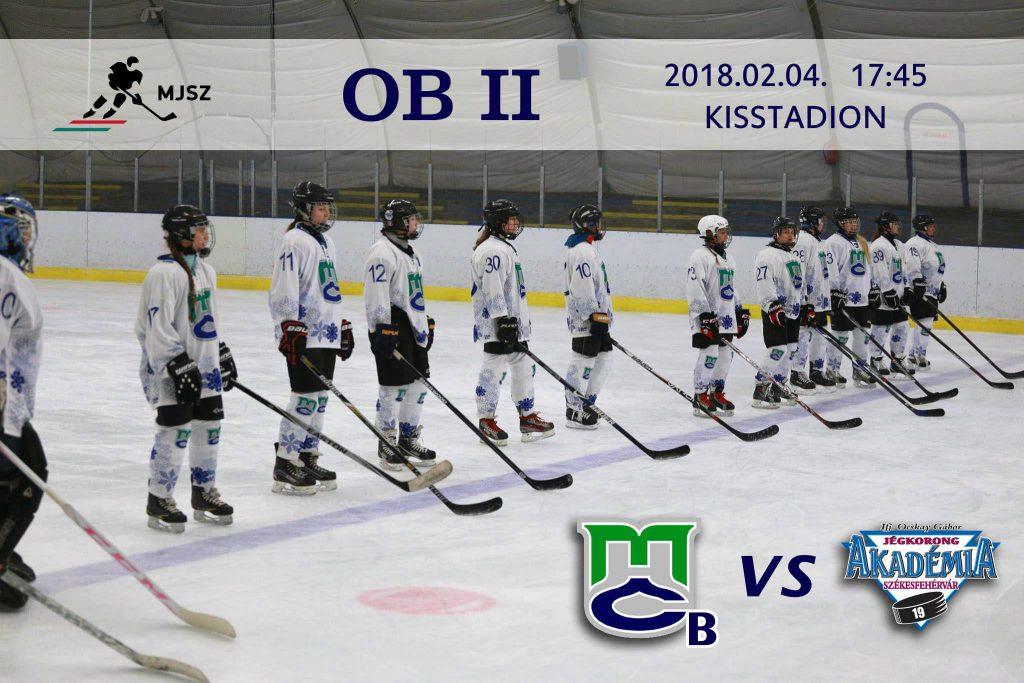 B csapatunk hétvégén a fehérvárt fogadja